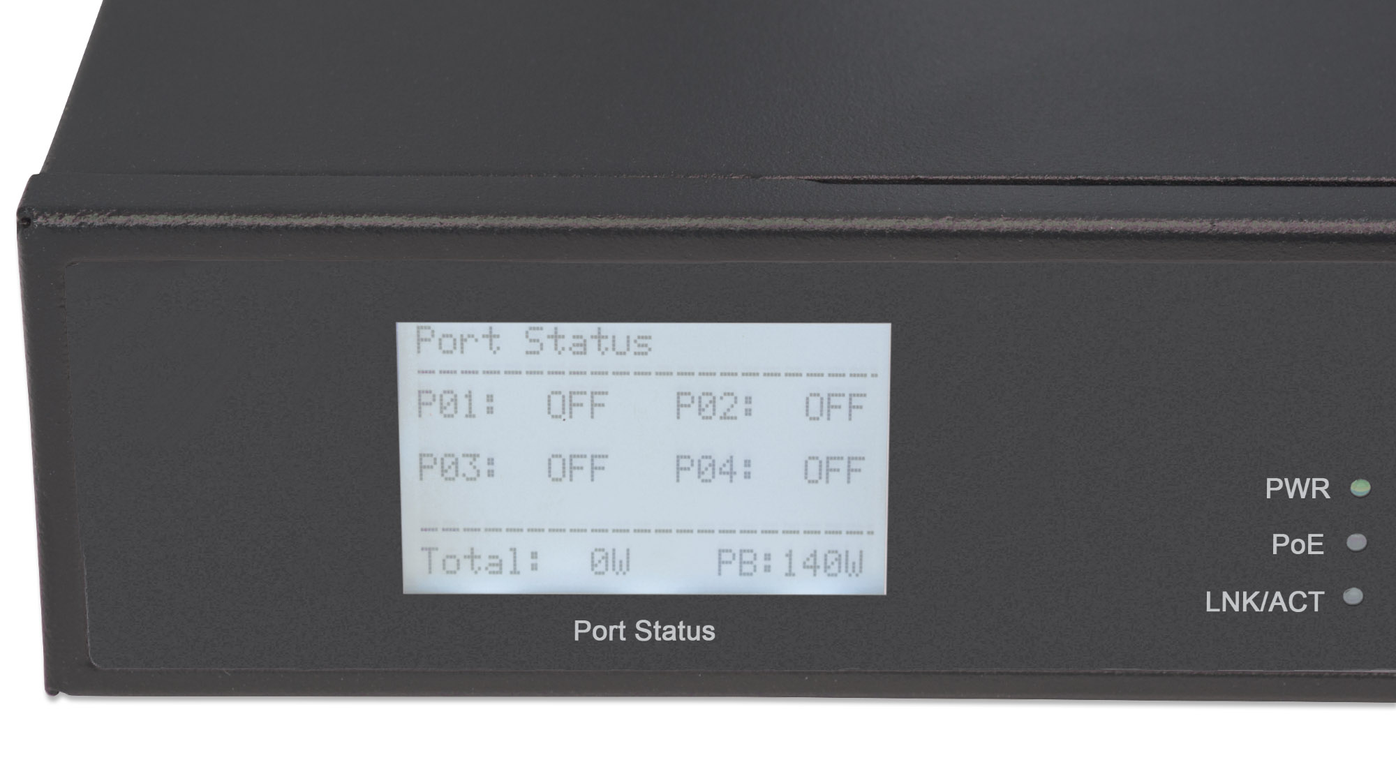 8-Port Gigabit Ethernet Switch with 4 Ultra PoE Ports and LCD Screen