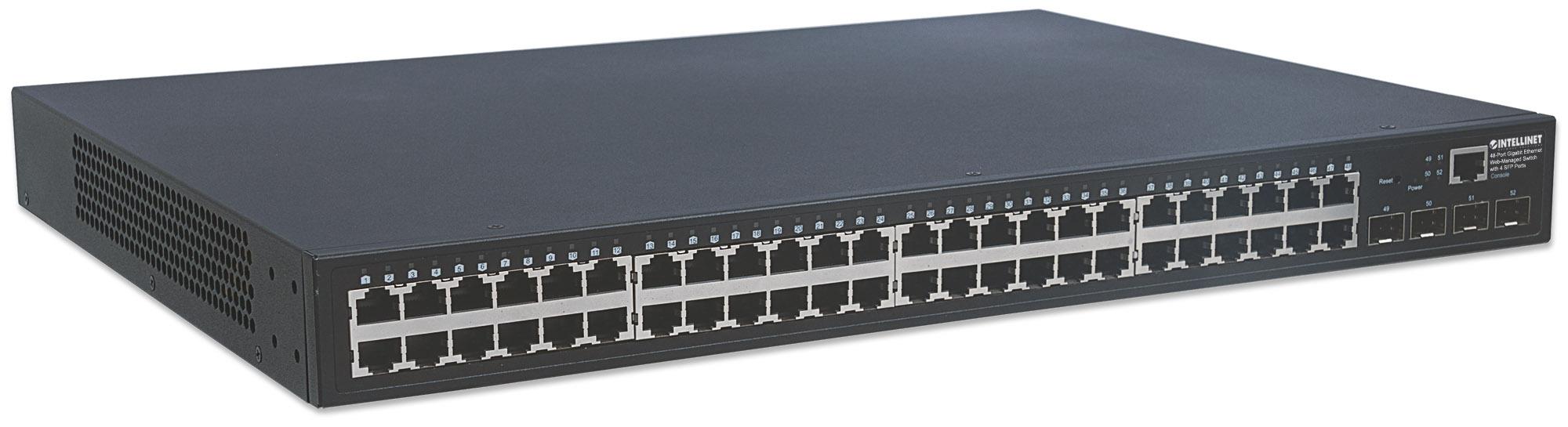 48-Port Gigabit Ethernet Web-Managed Switch with 4 SFP Ports