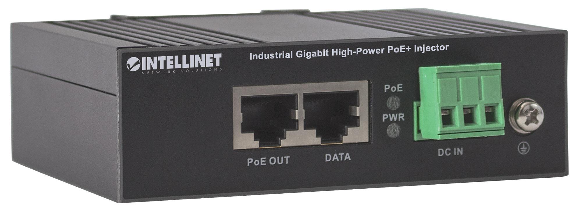 Industrial Gigabit High-Power PoE+ Injector