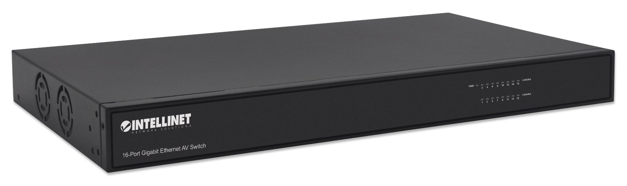 16-Port Gigabit Ethernet AV Switch