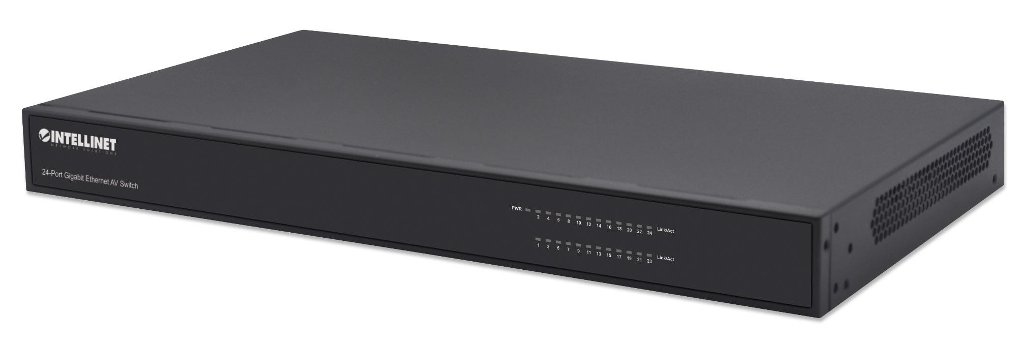 24-Port Gigabit Ethernet AV Switch