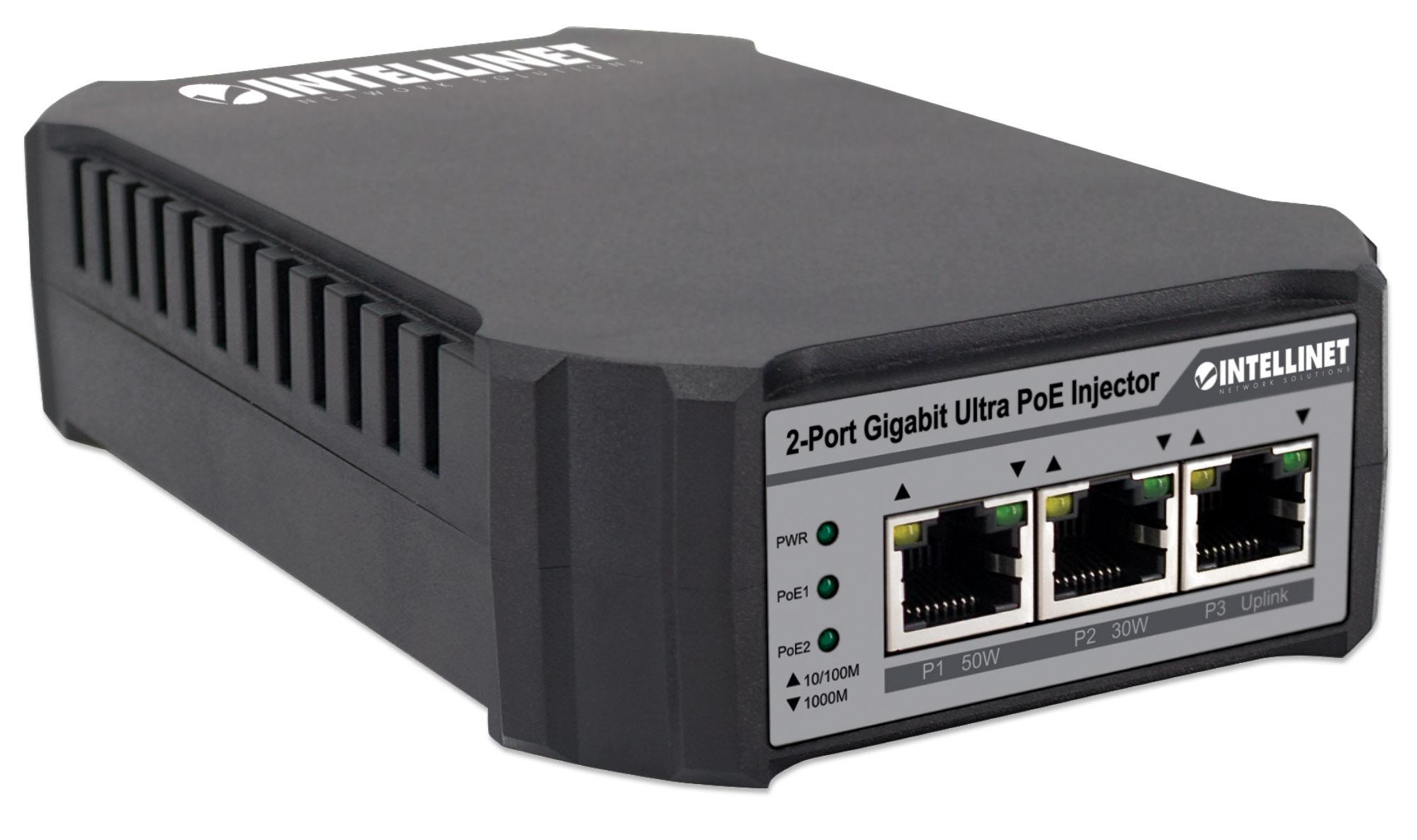 2-Port Gigabit Ultra PoE Injector
