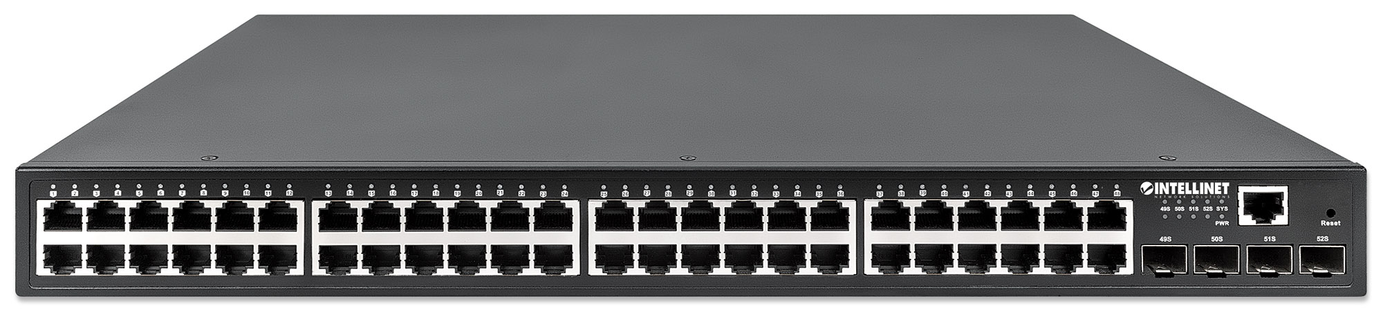 48-Port Gigabit Ethernet PoE+ Layer2+ Managed Switch with Four 10G SFP+ Uplinks