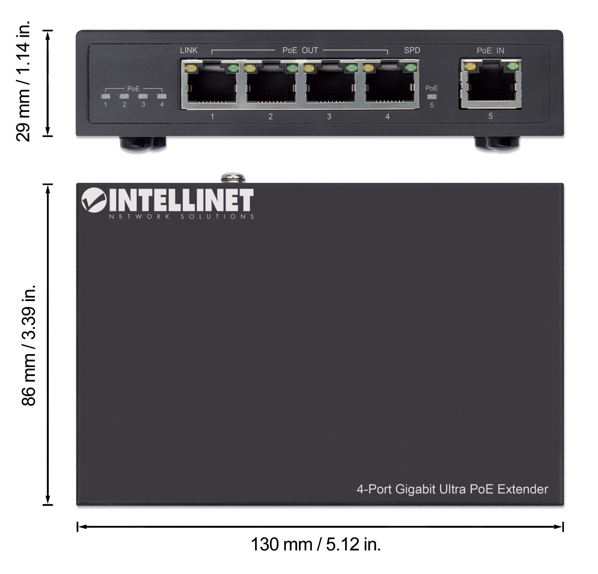 4-Port Gigabit Ultra PoE Extender