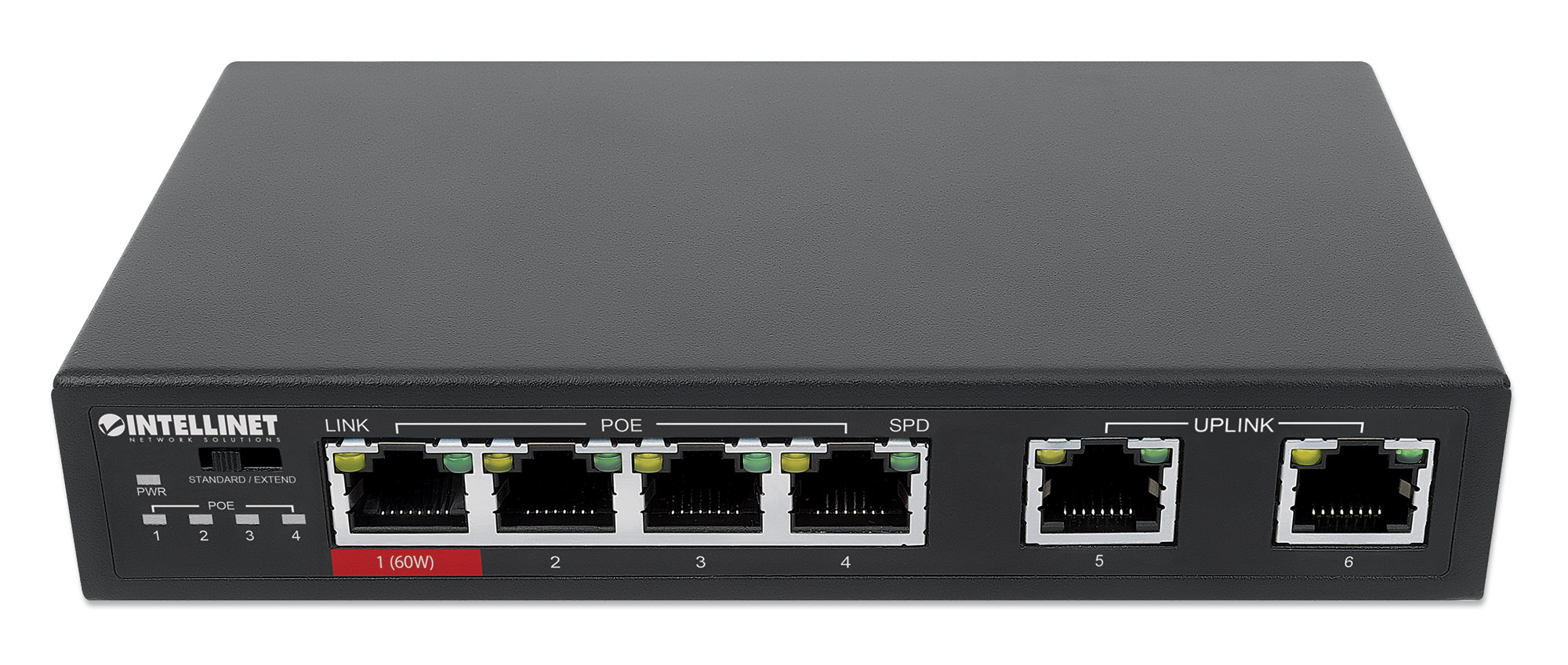 6-Port Fast Ethernet Switch with 4 PoE Ports (1 x High-Power PoE)