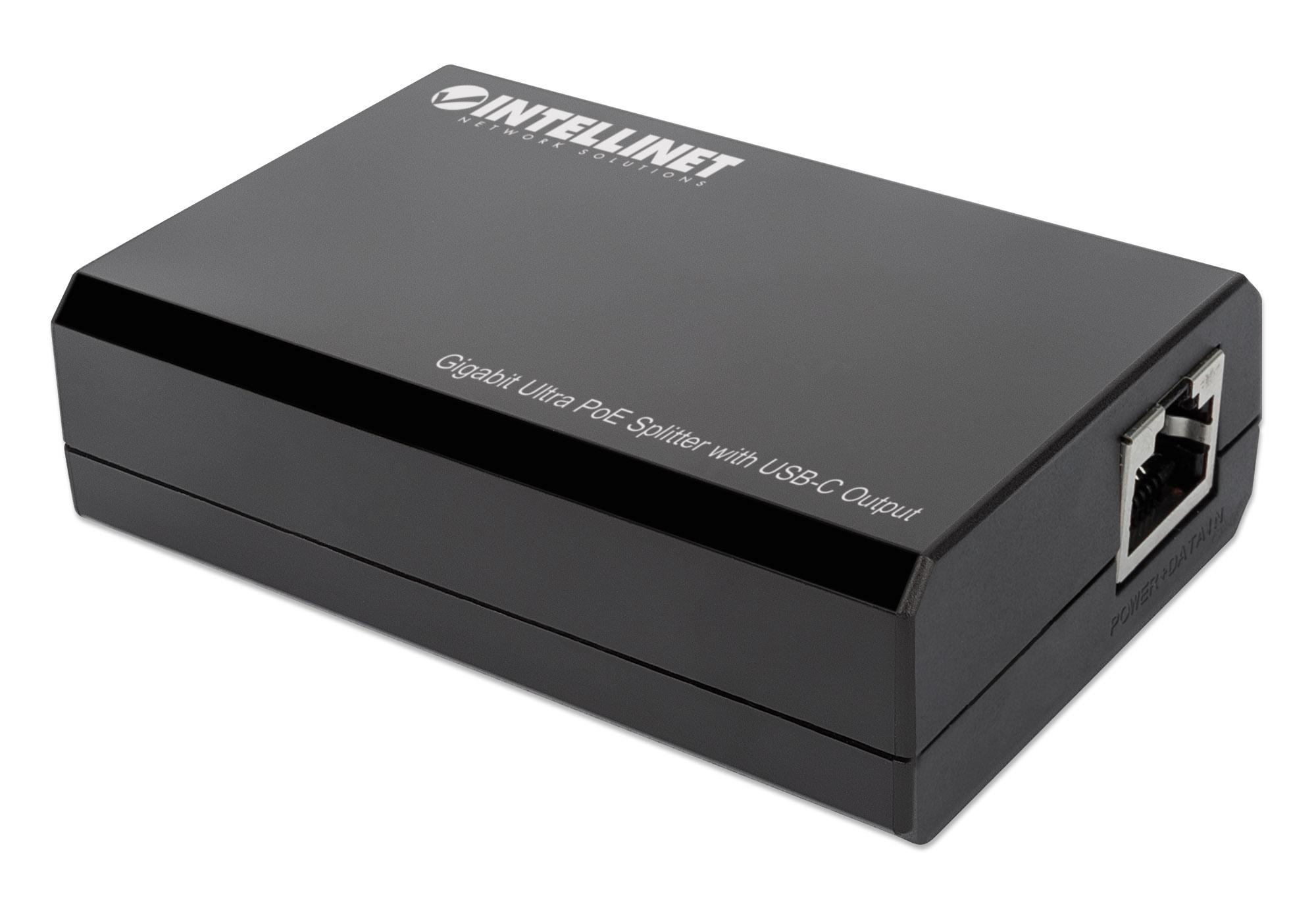 Gigabit Ultra PoE Splitter with USB-C Output