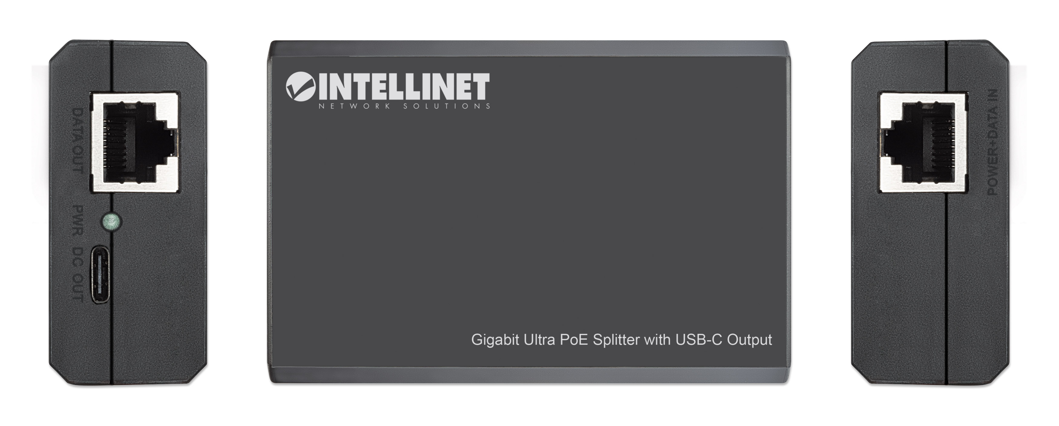 Gigabit Ultra PoE Splitter with USB-C Output