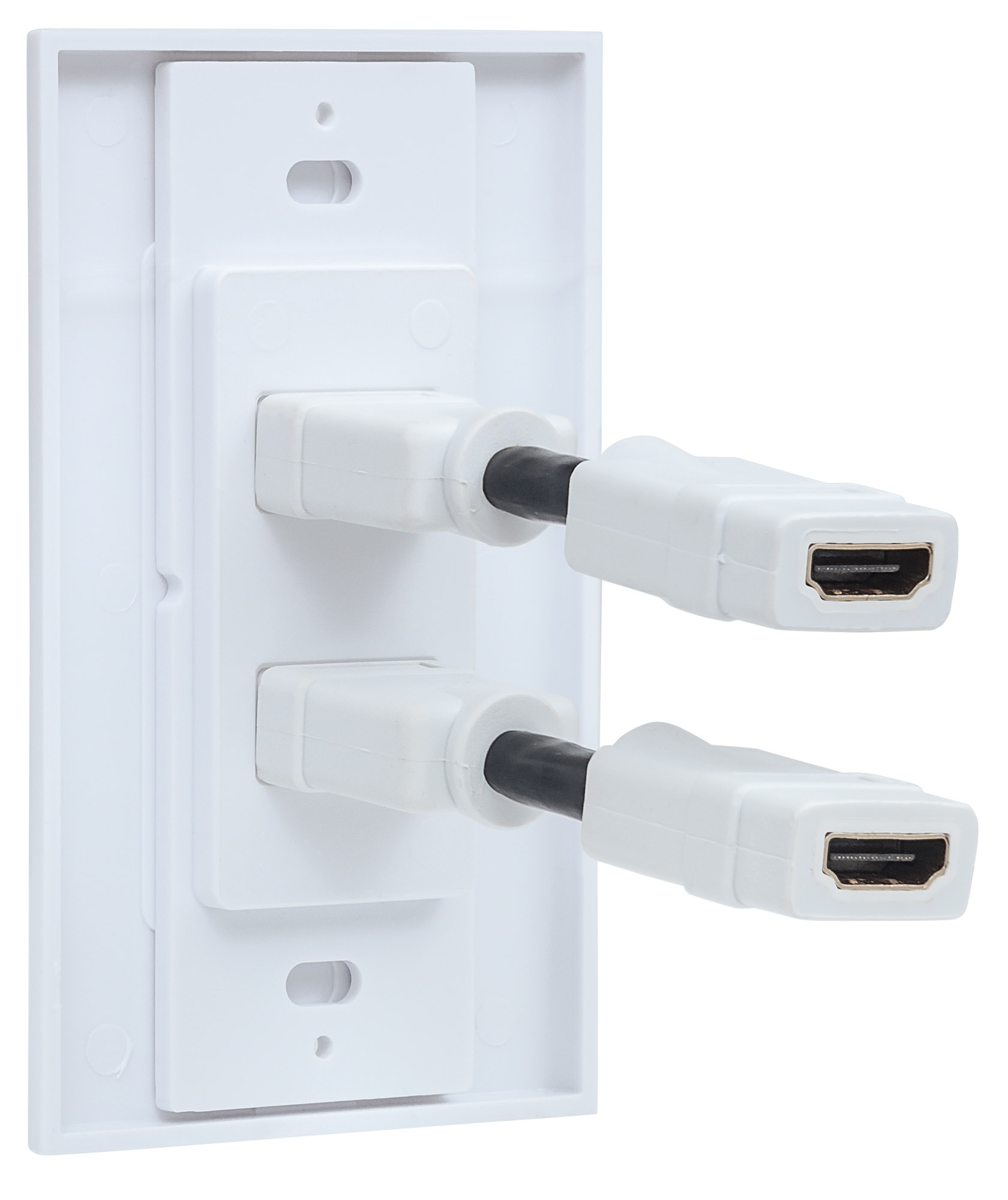 Two-Port HDMI Wallplate
