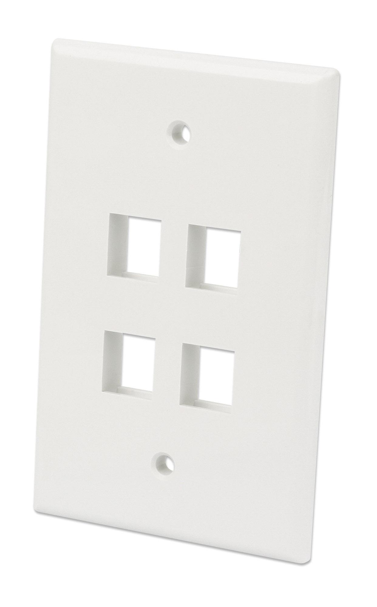 4-Outlet Oversized Keystone Wall Plate