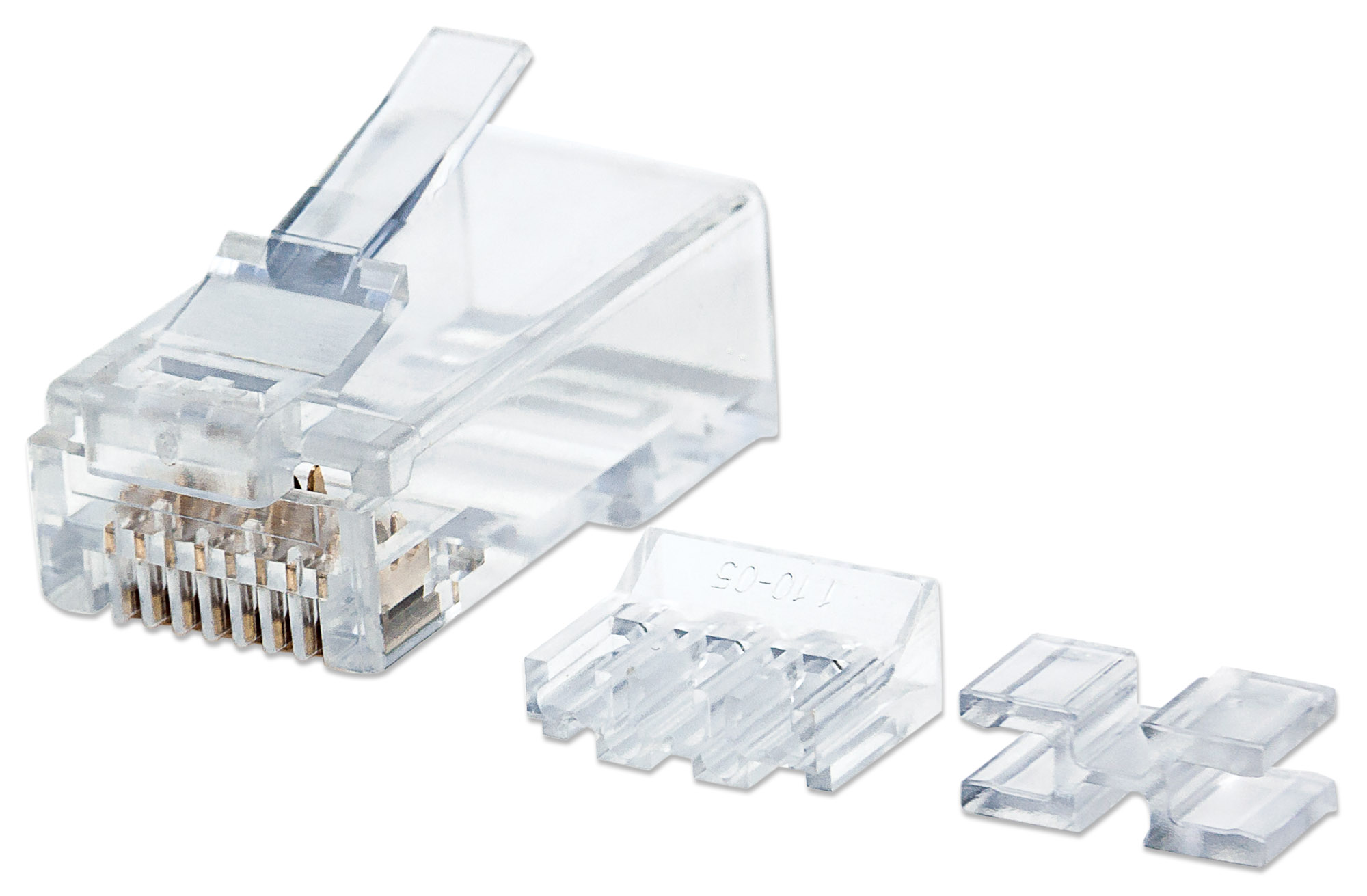 80-Pack Cat6 RJ45 Modular Plugs Pro Line