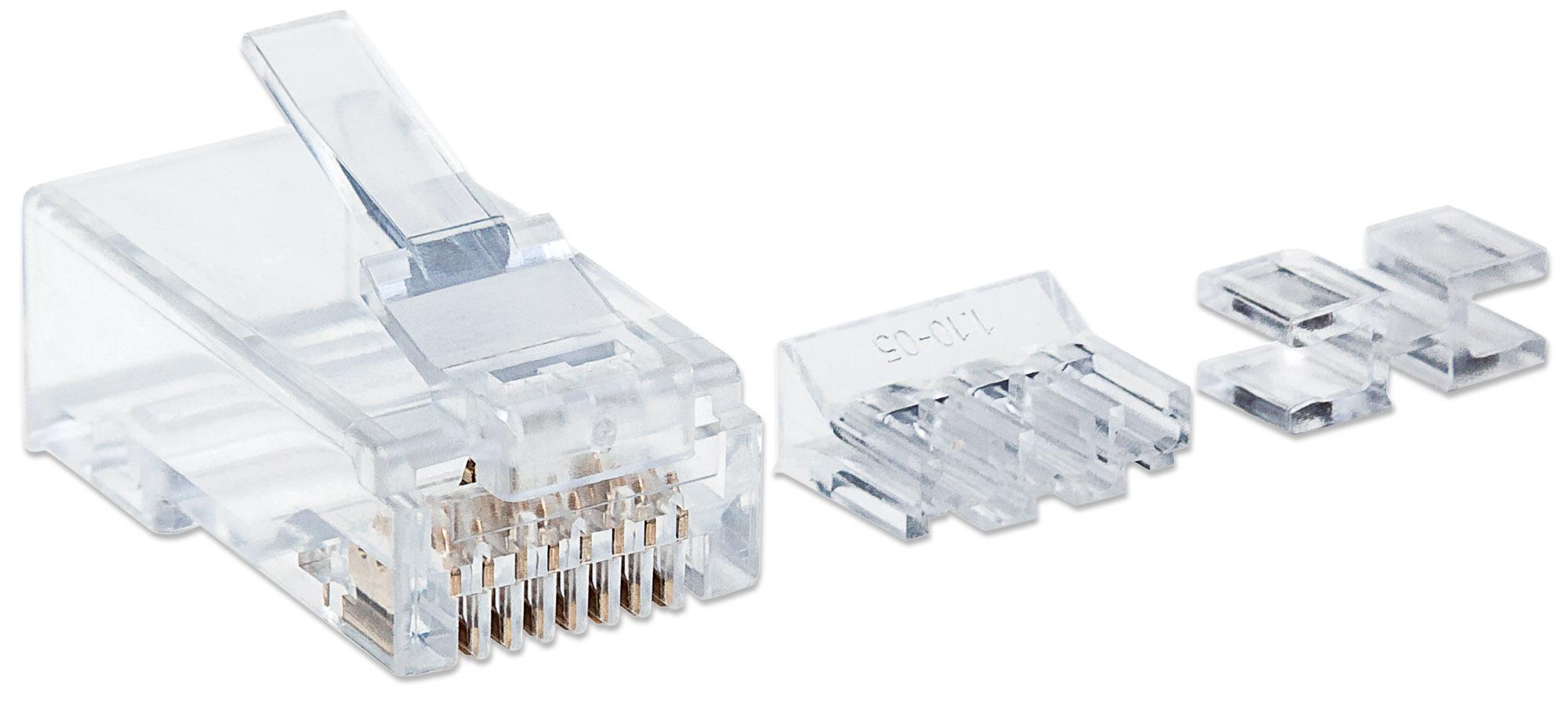 80-Pack Cat6 RJ45 Modular Plugs Pro Line