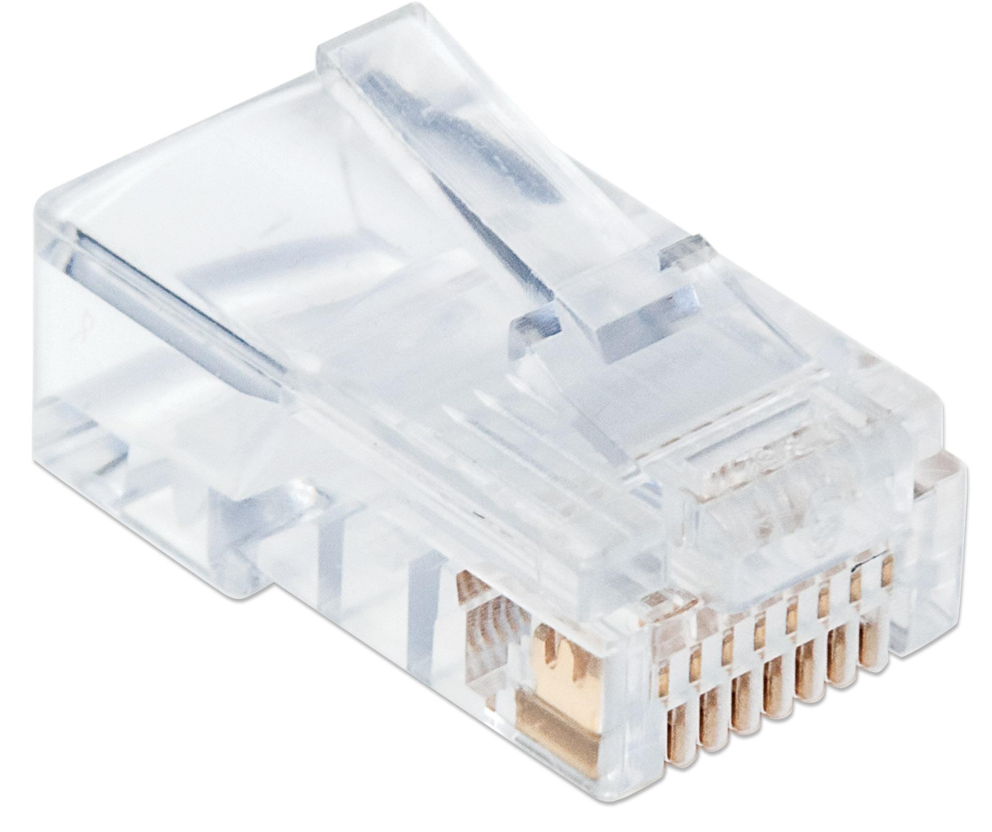 100-Pack Cat5e RJ45 Modular Plugs Pro Line