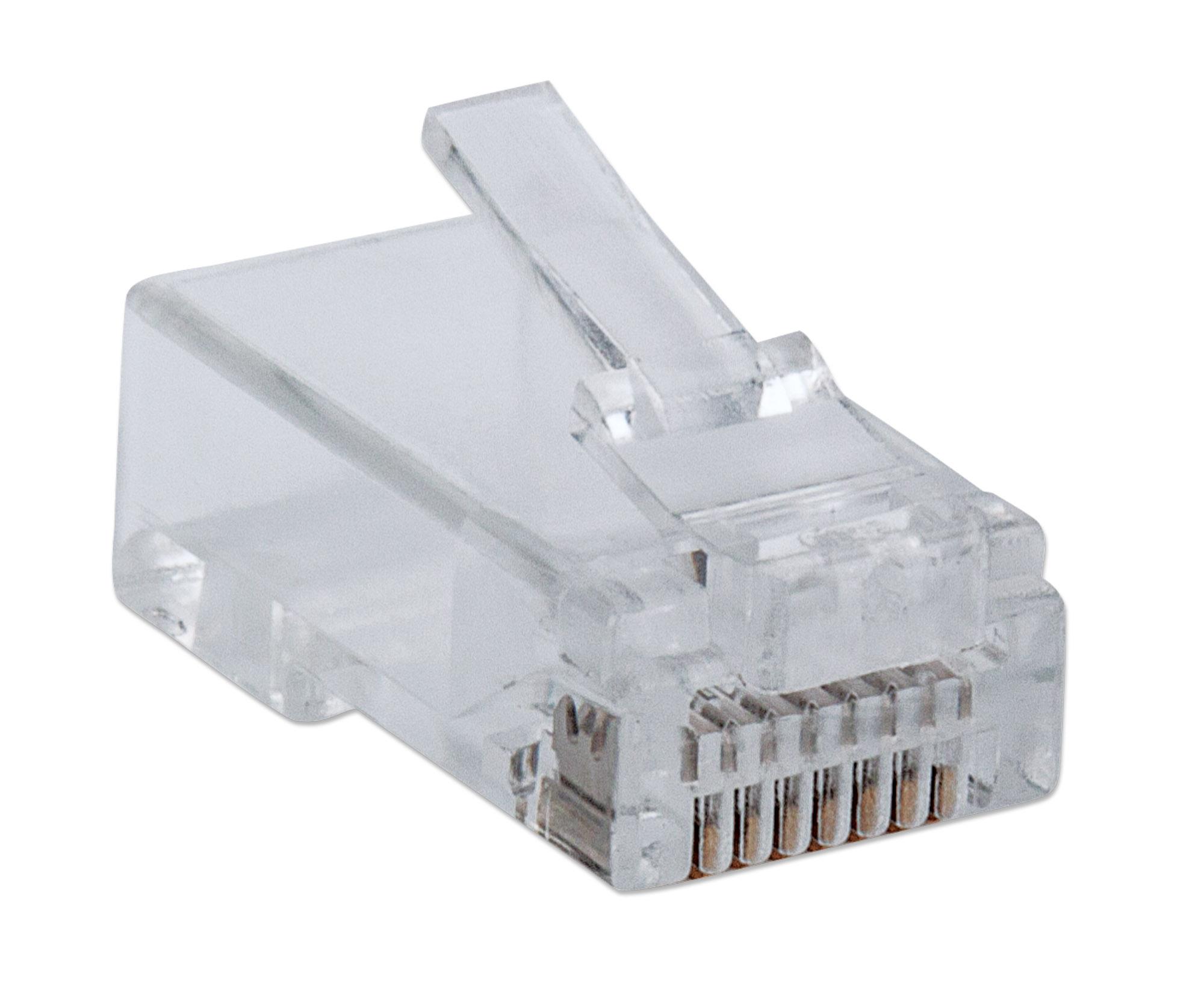 100-Pack FastCrimp Cat6 RJ45 Modular Plugs