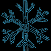 Snowflake blue thick black background bordered
