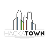 Hackatown logo final white