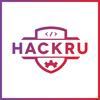 Hackru logo square gradient whitebg bordered