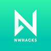 Nwhacks logo white on green