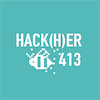 2020hackher logo color white