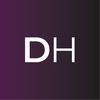 Dh logo vector