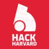 Hackharvard 21 logo with text  white
