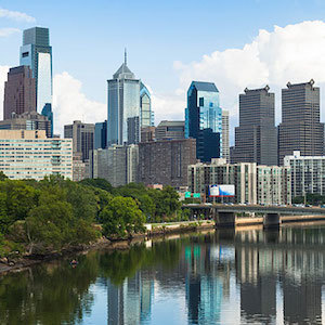 Philadelphia skyline river 108957686