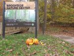 Welcome Sign in Fall at Brookside Nature Center