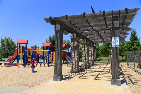 public space and playground at Arora Hill Local Park