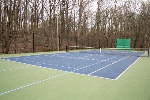 Sport venue, Tennis court, Line