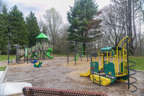 Playground, Outdoor play equipment, Public space, Human settlement, Play, City, Recreation, Playground slide