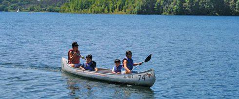 Family in Canoe