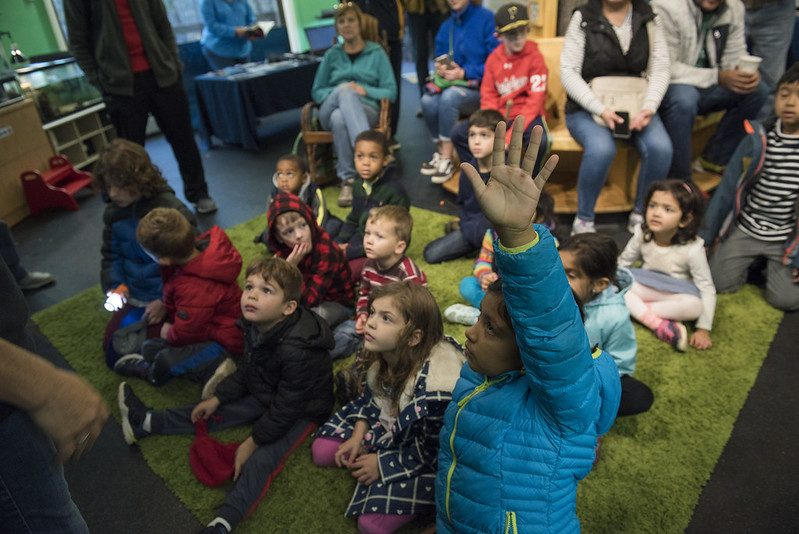 Class of children visiting Locust Grove Nature Center