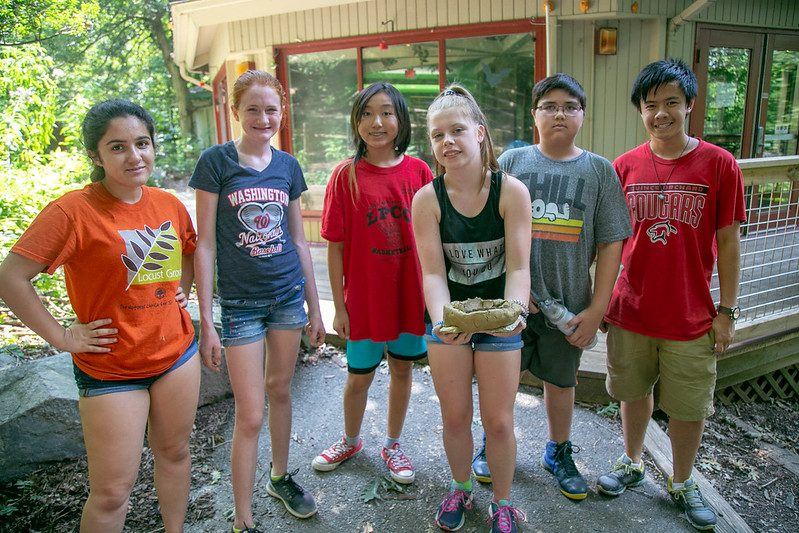 Volunteer summer camp counselors at Locust Grove Nature Center