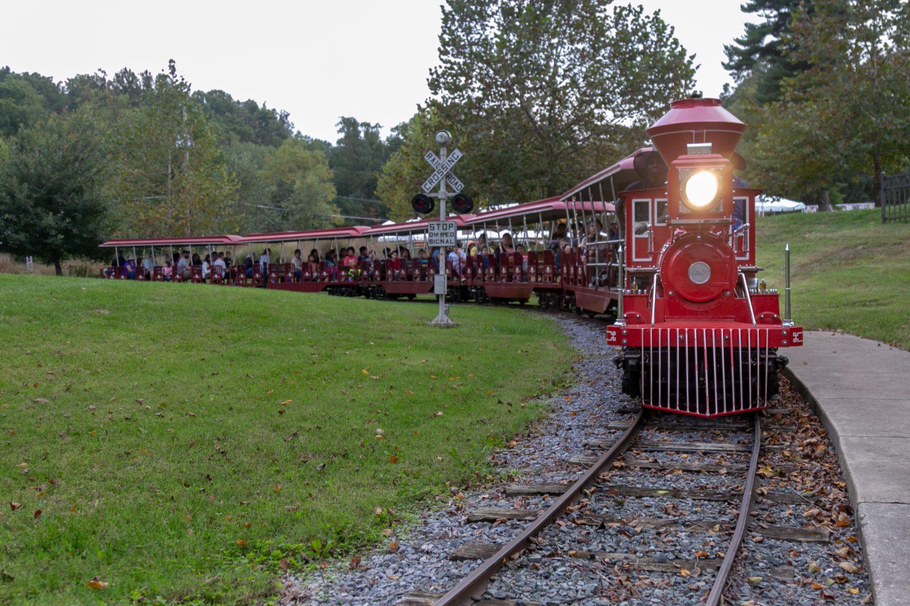 Wheaton Train Approaching the Station