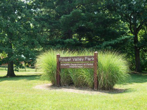 Entrance to Flower Valley Neighborhood Park