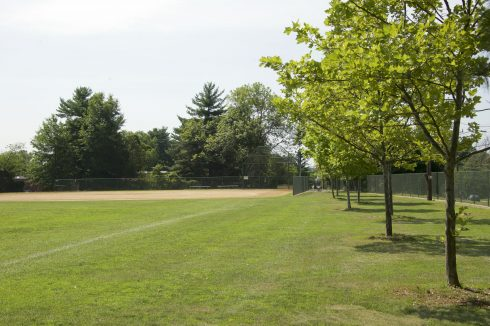 Baseball field at Hillandale Local Park