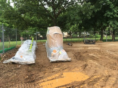 playground installation at waters landing local park