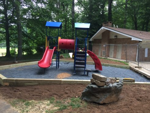 new playground at north chevy chase local park