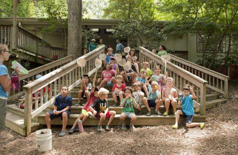 Group photo of children at Locust Grove Nature Center