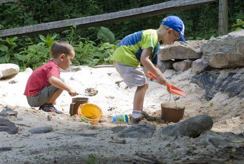 Sandbox in the Natural Exploration Area at Locust Grove