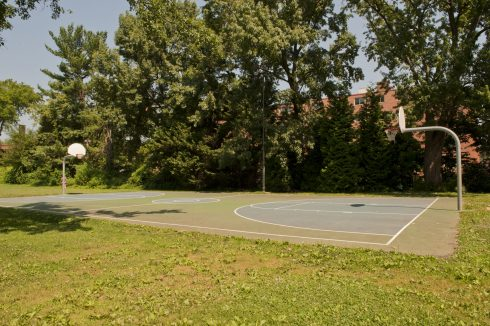 Basketball court at Norwood Local Park