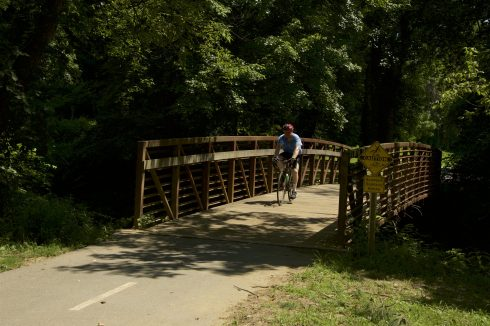 Bicyclist on Rock Creek Regional Park