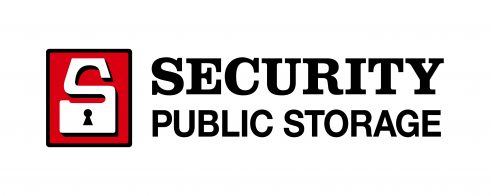 Logo for Security Public Storage that includes a padlock