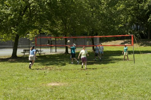 Patrons playing Volleyball at Silver Spring Intermediate Neighborhood Park
