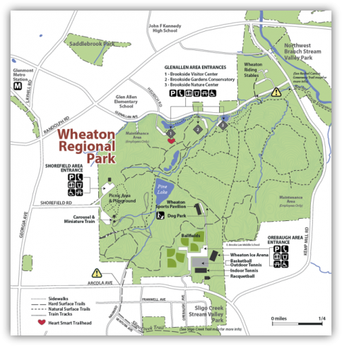 Map of Wheaton Regional Park