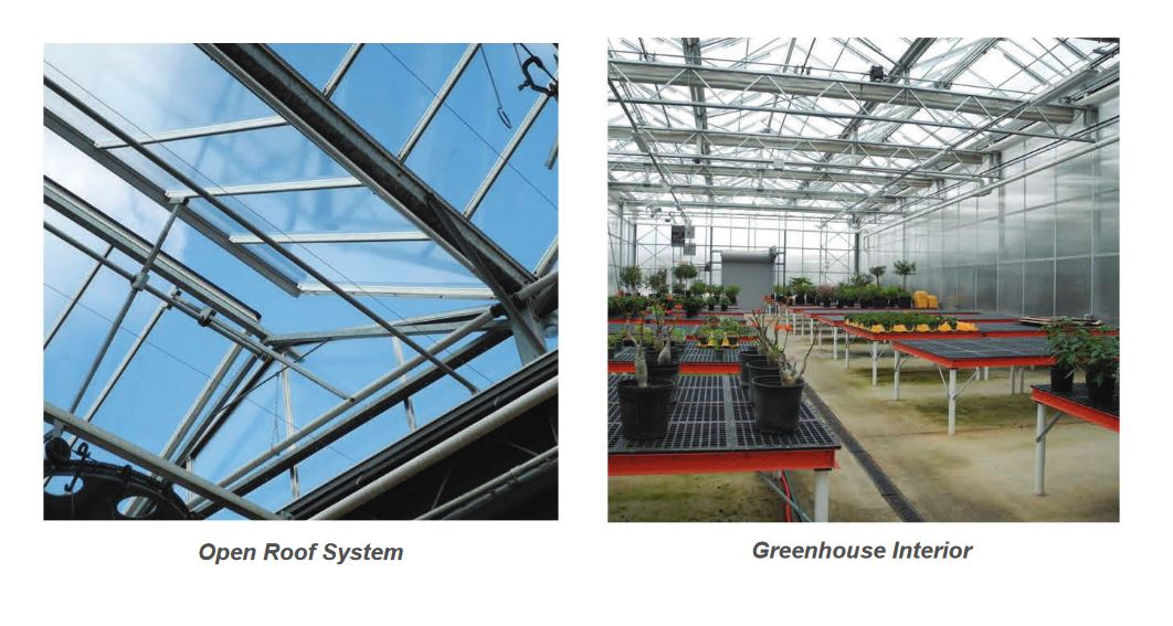 Greenhouse  Roof System and Area