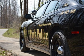 Side view of Park Police cruiser
