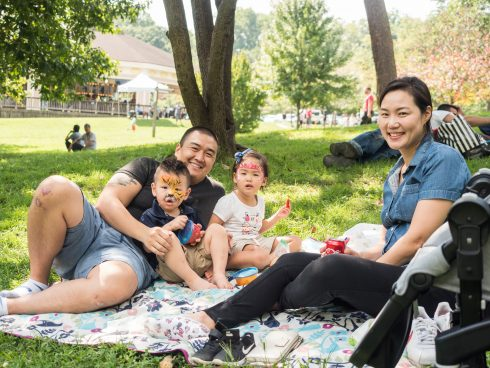Family Enjoying Picnic in the Park