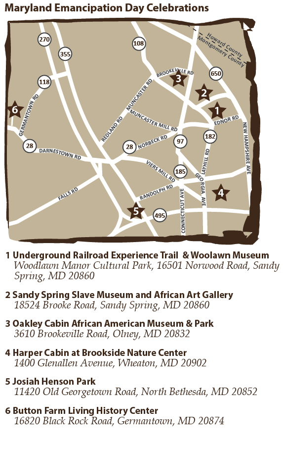 Maryland Emancipation Day Celebrations event map
