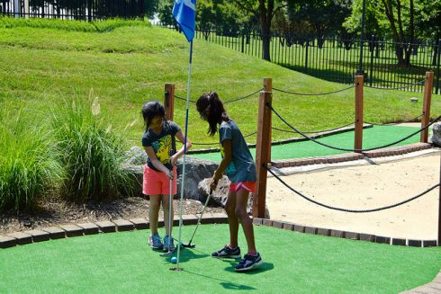 public space, miniature golf, leisure, playground, recreation, outdoor recreation, grass, fun, play