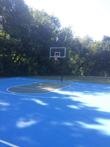 Shaded basketball court at Long Branch- Garland Local Park